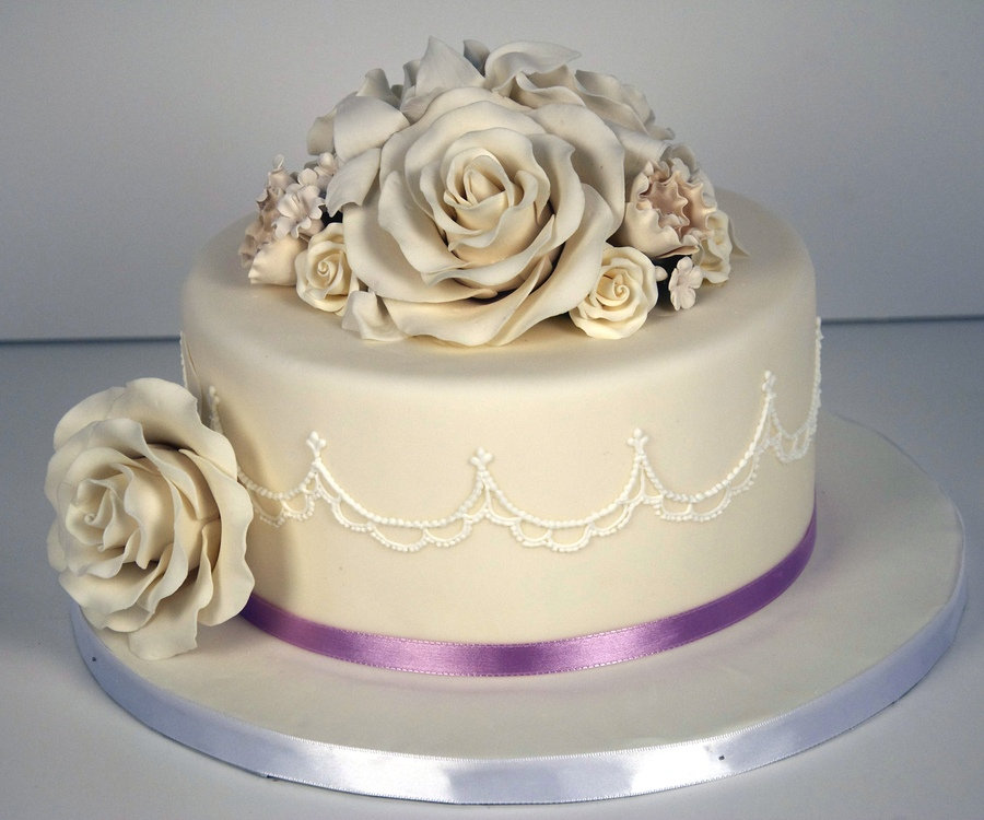 Simple One Tiered Cake Sample 2 ...
